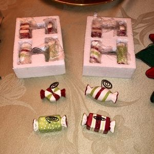 🆕 Candy Stripe Place Card Holders